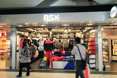BSX shoppar i Hong Kong Arkivfoton