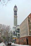 bt伦敦办公室过帐电信塔 免版税库存图片