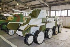 BT-5被隔绝的俄国轻型坦克 免版税库存图片