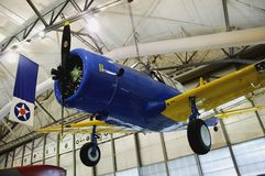 BT-13 Valiant. WW2 era basic flight trainer.  Air Mobility Command Museum, Dover AFB, Delaware Stock Image
