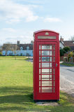 BT red telephone boxes on a street in Cambridge, UK Royalty Free Stock Photo