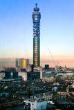 BT-Telekommunikationskontrollturm in London Lizenzfreie Stockfotos
