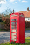 BT telephone box in a Suffolk Village, UK Stock Photo