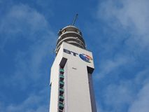 BT Tower in Birmingham Royalty Free Stock Photo