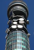 BT Tower. British Telecom Tower in Central London Stock Image