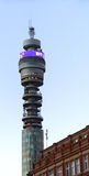 BT tower. The GPO tower high above London Royalty Free Stock Photography
