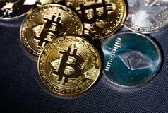 Btc de Bitcoin Cryptocurrency Foto de Stock