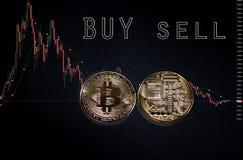 Btc de Bitcoin Cryptocurrency Imagens de Stock