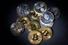 Btc de Bitcoin Cryptocurrency Foto de Stock Royalty Free