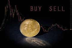 Btc de Bitcoin Cryptocurrency Fotos de Stock