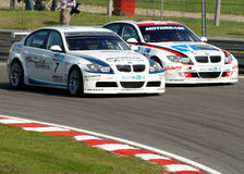 BTCC BMW's racing Royalty Free Stock Photo