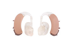 BTE hearing aids with path curves Stock Photography