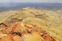Bâti Bruce près de parc national de Karijini, Australie occidentale Image libre de droits