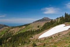 Bâti et neige de Ridge d'ouragan Images libres de droits