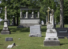 Bâti Olivet Cemetery Image stock