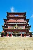 Bâtiment chinois historique - pavillon de Tengwang Photographie stock