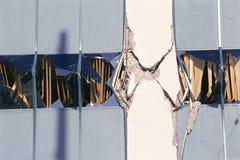 Bâtiment condamné avec le mur criqué Photo libre de droits