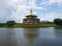 Bâtiment d'Assemblée législative d'état de Sarawak, Kuching, Malaisie Image libre de droits