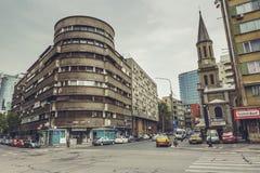 Bâtiment d'entre-deux guerres, Bucarest, Roumanie Photo stock