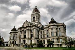 Bâtiment de gouvernement à Evansville Images libres de droits