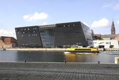 Bâtiment de la bibliothèque de diamant de DENMARK_black Photographie stock
