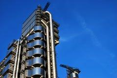 Bâtiment de Lloyds à Londres, à l'envers la construction Photographie stock libre de droits