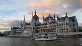 Bâtiment du Parlement de Budapest Photographie stock