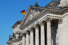 Bâtiment du parlement de Reichstag, Berlin, Allemagne Image libre de droits