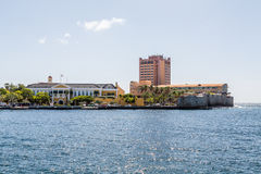 Bâtiment et hôtel de gouvernement sur le Curaçao Photo stock