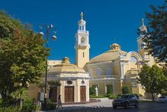 Bâtiment historique de hall philharmonique d'état azerbaïdjanais Image stock