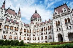 Bâtiment hongrois du parlement - Orszaghaz à Budapest, Hongrie Image stock
