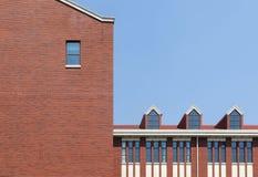 Bâtiment scolaire Images libres de droits