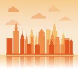 Bâtiments de grande conception de ville Photo stock