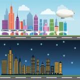 Bâtiments de grande conception de ville Images stock