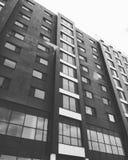 Bâtiments noirs et blancs Image stock