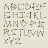 Bâtons d'alphabet de matchs. Photo stock