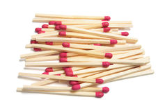 bâtons de pile d'allumette Photo stock