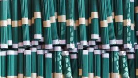 Bâtons verts d'encens au Japon Photographie stock libre de droits