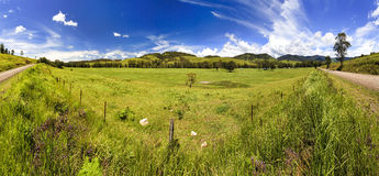 BTops Camp Cobark Panorama Royalty Free Stock Photography