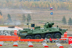 BTR-82A armoured personnel carrier in motion Stock Photography