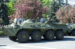 BTR ON PARADE MAY 9 Royalty Free Stock Photography