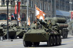 The BTR-82A is an Russian 8x8 wheeled amphibious armoured personnel carrier (APC). Stock Image