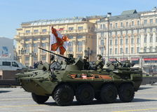 The BTR-82A is an Russian 8x8 wheeled amphibious armoured personnel carrier (APC). Stock Photo