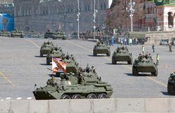BTR-80 on Vasilevsky descent in Moscow Stock Photography