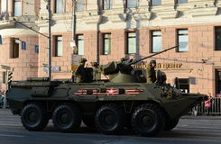 The BTR-82 is an 8x8 wheeled amphibious armoured personnel carrier (APC). Stock Photos