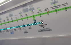 BTSöffentliche Transportmittel Bangkok lizenzfreie stockfotos