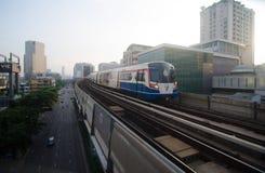 BTS天空火车在泰国 免版税库存照片