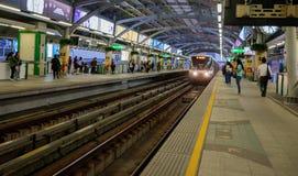 BTS天空火车,到达曼谷迅速的系统驻地 库存照片