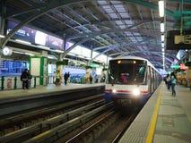 BTS天空火车,到达曼谷迅速的系统驻地 库存图片