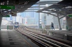 BTS或Skytrain在曼谷泰国 图库摄影